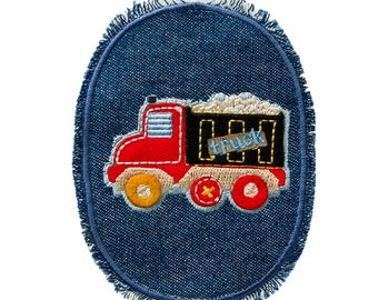 Patch/ironing-kids jeans patch Truck-red-10.2 x 7.5 cm-by catch-the-Patch ® patch appliqué applications for ironing application patches patch