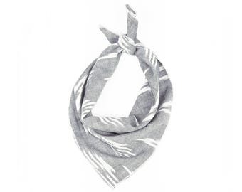Gray Arrow Ikat Bandana // Scarf // Wrap // Headband // Neckerchief // Neck Tie