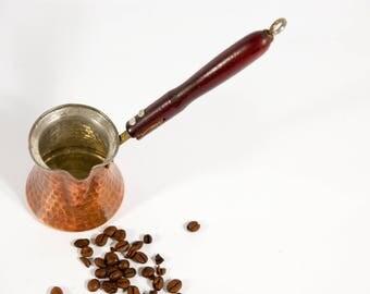 Vintage coffee maker, turkish coffee maker, copper coffee maker, copper cezve, coffee pot, arabic coffee maker, turkish coffee pot