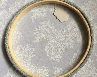 6 inch Gray Speckled wrapper hoop