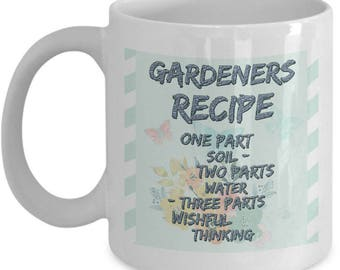 Funny Garden Mug - White 11oz Ceramic Gardening Coffee Mug - Coffee Mugs For Gardeners