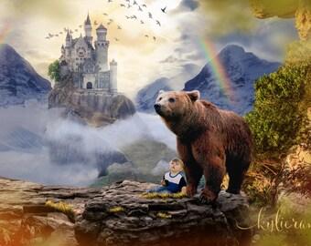 Bear Overlay, Digital Image, Digital Backdrop, Bear Backdrop, Photo Manipulation, Digital Photo, Photography, Digital Overlay, JPG