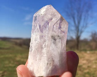 Light Pink Danburite TWIN Crystal from Mina Aurora, Charcas, Mexico 01