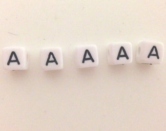 10 x letter has acrylic 10mm white black writing