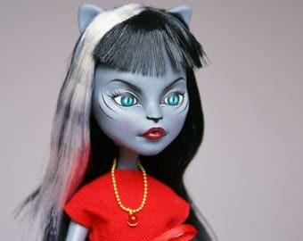 Monster High OOAK Purrsephone Custom Repaint Art Doll