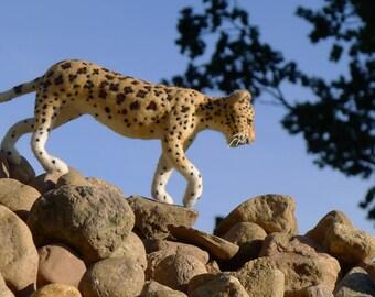 Needle felted leopard, Panthera