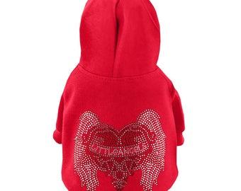 Little Angels Hoodie Dog Sweatshirt