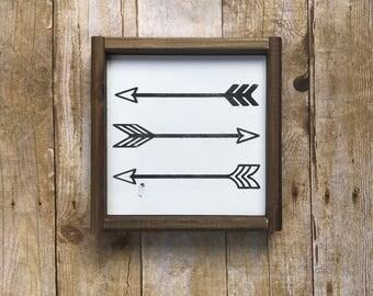 Arrows sign, nursery arrow sign, nursery sign, nursery decor, boy room, girl room, teen, modern farmhouse,woodland, hunting sign, arrow sign