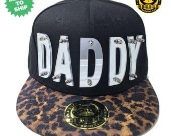 Daddy Acrylic Letter Snapback Hat