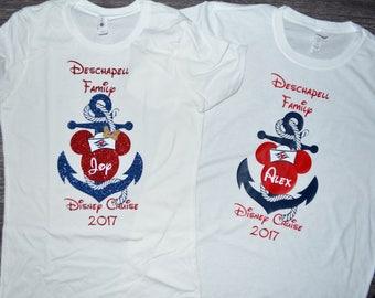 Minnie and Mickey Anchor Disney Cruise Shirts