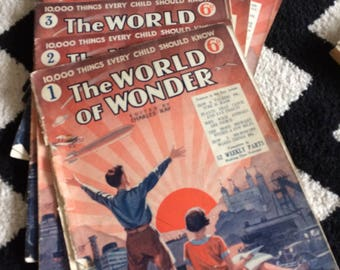 The World of Wonder - partial set of children's magazines 1932-33