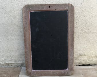 Vintage Childs blackboard,slate chalk board,old school house french wood 2508178