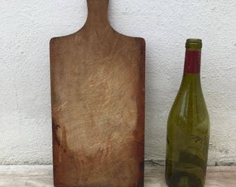 ANTIQUE VINTAGE FRENCH bread or chopping cutting board wood 17021820