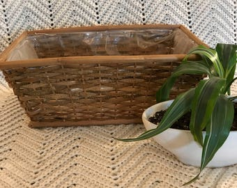 Boho Wicker Planter