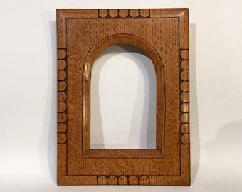 Mini Oak Frame, European Arts and Crafts, Ca: 1910.