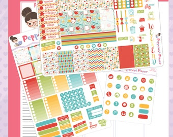 Mini H -- Time For School Mini H Planner Stickers -- #11