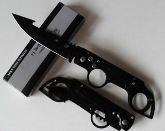 Knife Folding Pocket shape AK47 steel 10 cm sleeve 13 cm steel blade