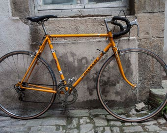 Semi Peugeot bike race orange vintage 70's