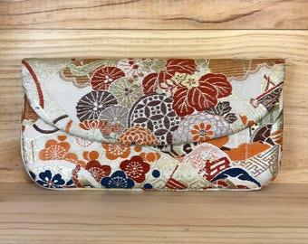 Vintage Handmade Gump's San Francisco Silk Brocade Obi Kimono Robe Handbag Clutch Purse