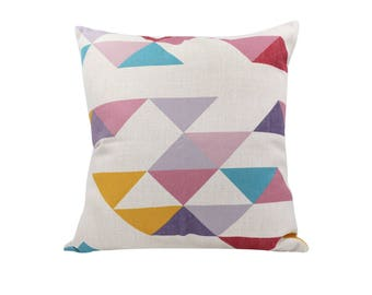 Geometric decorative pillow cover Rustic throw pillow covers Linen pillow cases Simple cushion cover Sofa accent pillows Home decor 18x18