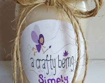 Simply Nilla 16 oz candle-hand poured candle-mason jar candle-vanilla scented