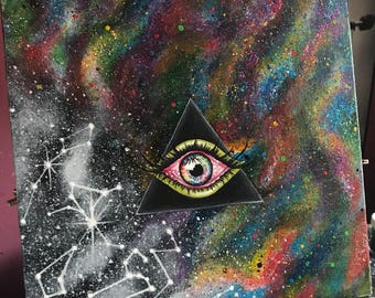 Dark Side of the Moon Eye Painting