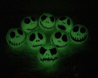 Glow in the dark, Jack Skellington, Bath Bomb (with) Skeleton Key (inside) Jack Skellington, Halloween Bath bomb, Nightmare before Christmas