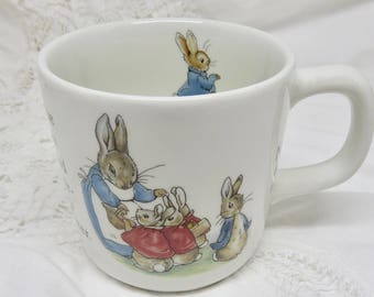 Wedgwood Peter Rabbit Beatrix Potter Designs Mug by Wedgwood of Etruria & Barlaston Vintage One Handled Mug Shower/Baby Gift