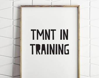 70% OFF SALE teenage mutant ninja turtle, TMNT in training print, teenage mutant ninja turtle art, turtles decor