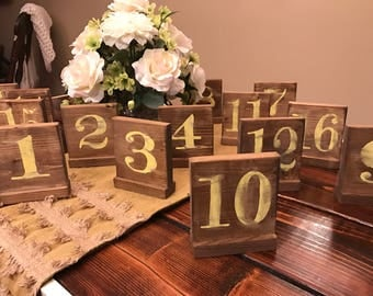 Table Numbers | Wooden Table Numbers