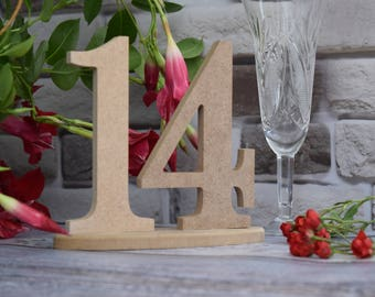 Wedding table number set 1-14 wood table number wedding table decor elegant table rustic number reception decor wedding anniversary DIY