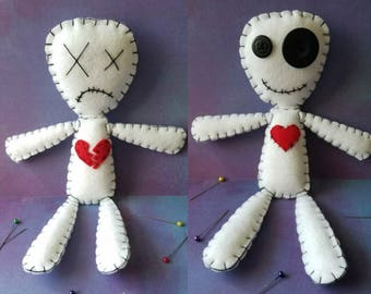Two-Sided Voodoo Doll - Happy on one side; sad on the other!