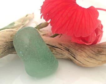 Frosted Sea Glass, Large Sea Glass, Aqua Sea Glass Shard, Collectible Sea Glass, Surf Tumbled, Authentic Sea Glass, Jewelry Supply, Seafoam