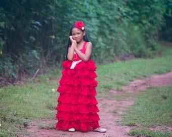Girls Princess Dress, Flower Girl Dress, Cupcake Dress, Girls Ruffle Dress, Girls Floral Dress, Christmas Dress, Valentine Dress