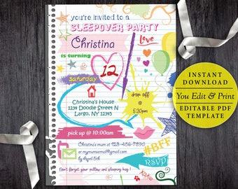 Tween invitations Etsy