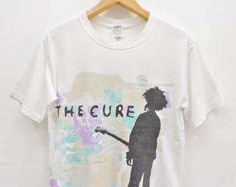 Vintage The Cure Boys Don't Cry T-Shirt Street Wear British Punk Rock Band Top Tee Size S