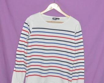Vintage HELLY HANSEN Stripes Sweatshirt Sweater Women Large Size