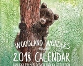 Woodland wall calendar 2018