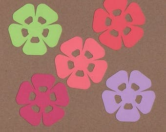 "25 - 2.25"" Flower Die Cuts Paper Craft Embellishments Set 25"