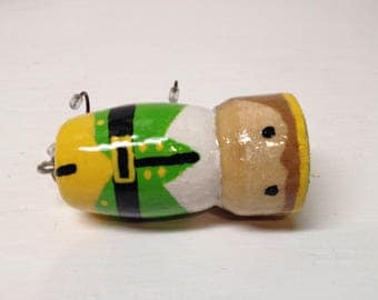 Fishing Lure, Christmas Ornament, Handcrafted, handpainted, custom bass popper fishing lure Ornament