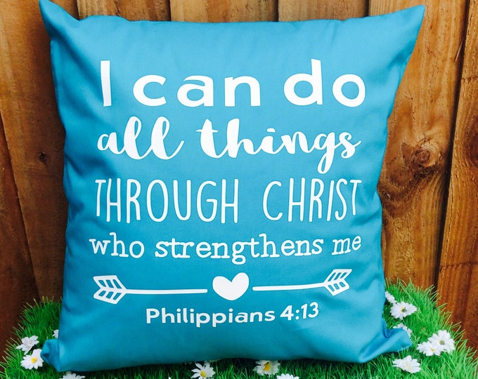 Featured listing image: Bible Verse Scripture Cushion Cover Philippians 4.3