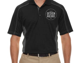 Custom Embroidered Ash City - Extreme Men's Eperformance  moisture wicking Polo Shirt, Personalize Polo T-shirt,  Branding