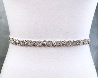 Crystal Bridal Belt, Bridal Sash, Wedding Belt, Wedding Sash Rhinestone and Pearl Sash