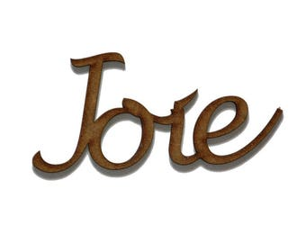 """Word """"Joy"""" in medium 3 mm"""