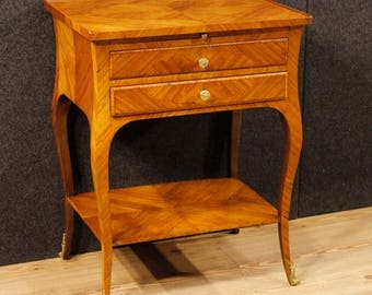 French Side Table In Rosewood And Mahogany