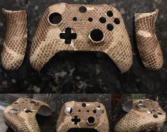 REAL snake skin Xbox One controller