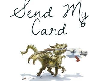Send My Card- Card sending add-on service   Handwritten Message Inside Card   Send Direct To Recipient
