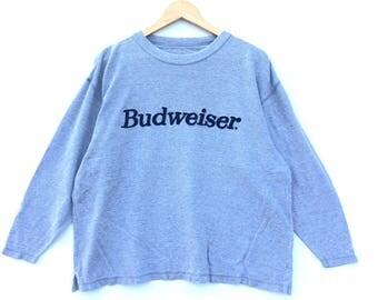 Vintage Budweiser Sweatshirt / Budweiser Ads / Budweiser Oversize Shirt / Budweiser Jacket / Budweiser Rugby