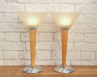 Retro table lamp etsy retro lamps retro decor retro style mid century modern style pair lamps aloadofball Image collections