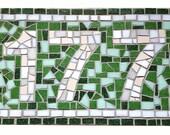 Custom Mosaic Sign, House...